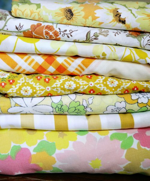 Vintage fabric choices ylw&gold&brn 2