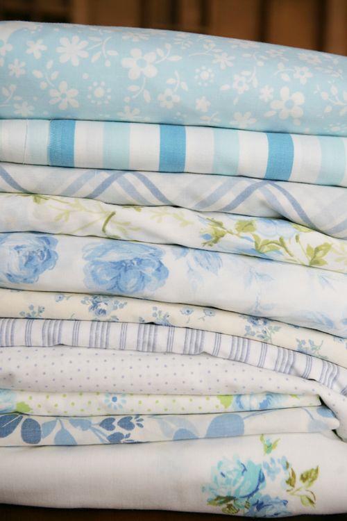 Vintage blue-white